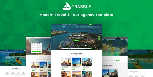 Trabble-  Tour Booking & Travel Agency Template - Travel Retail