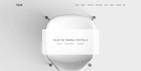 Folim - Clean Minimalist Portfolio WooCommerce WordPress Theme