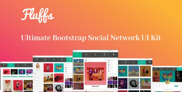Fluffs - Ultimate Bootstrap Social Network UI Kit - Miscellaneous Site Templates