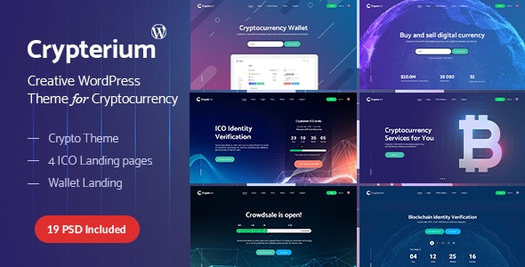 Crypterium - WordPress Cryptocurrency ICO Landing Page Theme - Software Technology