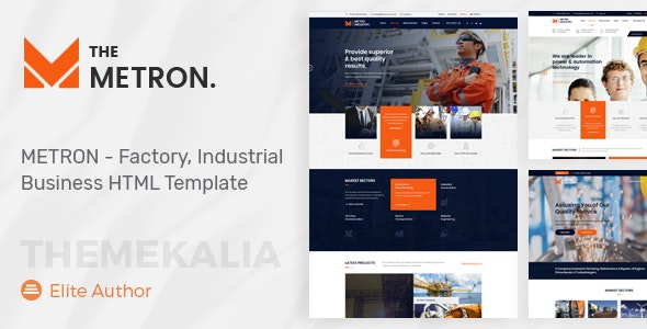 METRON - Industrial Business HTML Template - Business Corporate