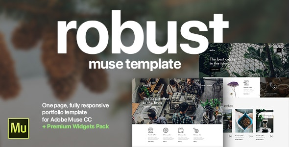 Robust | Coffee, Architect, Creative Portfolio Template for Adobe Muse CC - Muse Templates
