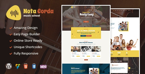NotaCorda - Music School and Musicians WordPress Theme - Education WordPress