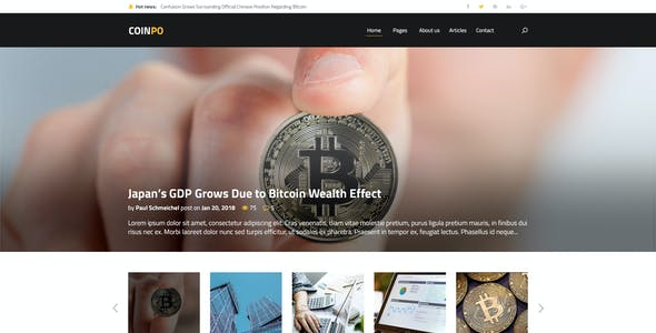 Coinpo | Bitcoin & Crypto Currency PSD Template