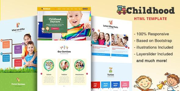 Childhood - Children/Daycare HTML Template - Children Retail