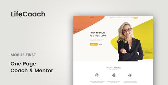 LifeCoach - Coach, Speaker & Mentor Template - Corporate Site Templates