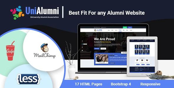UniAlumni - University Alumni Html Template - Nonprofit Site Templates