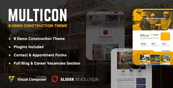 Multicon - Multi-Purpose Construction Industry Theme - Business Corporate