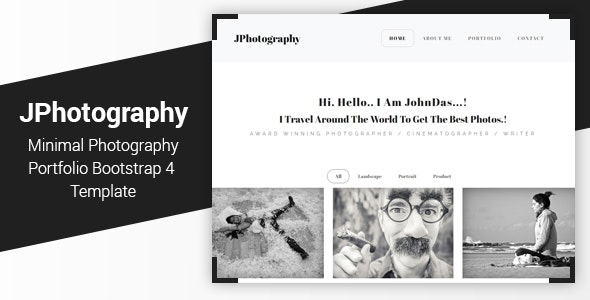 JPhotography - Minimal Photography Portfolio HTML5 Template - Photography Creative