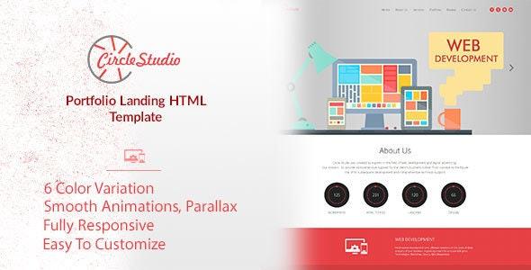 Circle Studio - Portfolio Landing HTML Template - Portfolio Creative