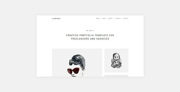 Lamark - Freelancers and Agencies Portfolio WordPress Theme for Elementor