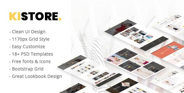 Kistore – Lookbook E-commerce PSD Template - Retail Photoshop