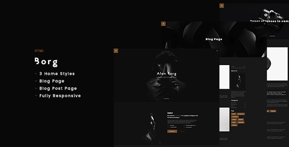 Borg - Personal Portfolio HTML - Portfolio Creative
