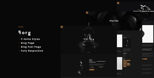Borg - Personal Portfolio HTML
