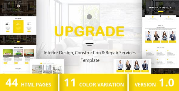 UPGRADE - Interior Design, Construction & Repair Services Template