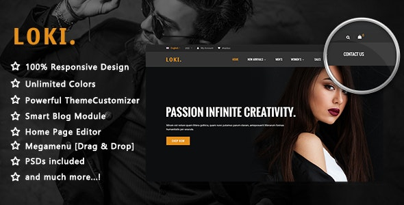 Loki - Simple Fashion Responsive PrestaShop 1.7 Theme - Fashion PrestaShop
