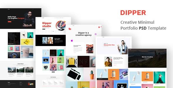 Dipper - Creative, Minimal Portfolio PSD Template - Portfolio Creative