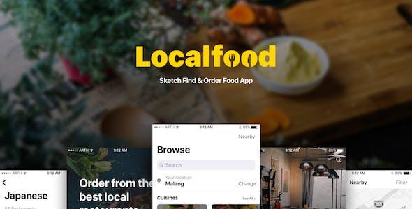 Localfood - Sketch Find & Order Food App