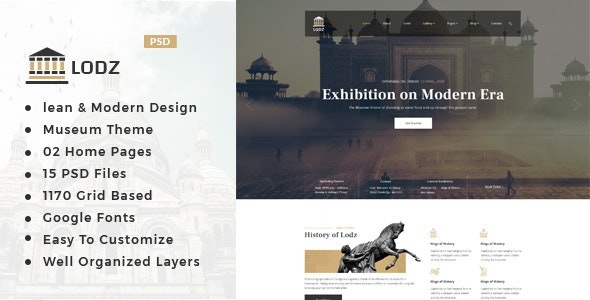 Lodz : Museum PSD Template - Miscellaneous Photoshop