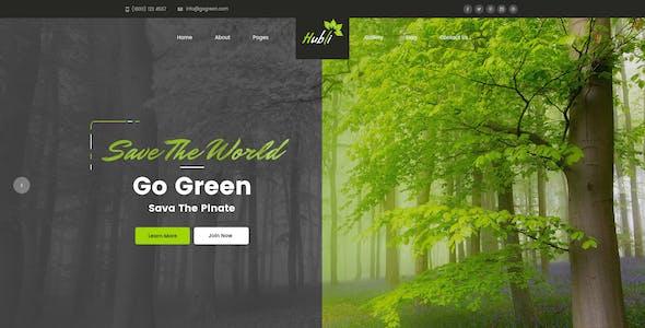 Hubli : Go Green PSD Template