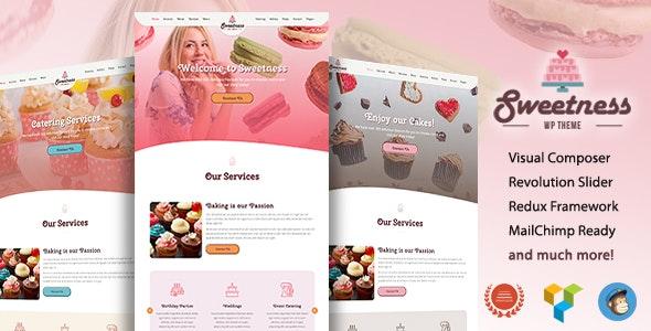 Sweetness - One Page WordPress Theme - Food Retail