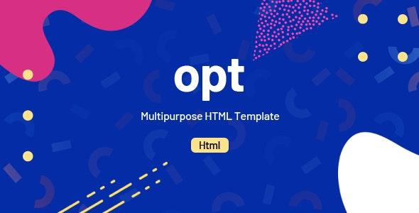 Opt - Multipurpose HTML Template - Corporate Site Templates