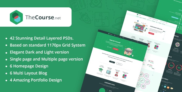 TheCourse | Multipurpose Education PSD Template - Corporate Photoshop