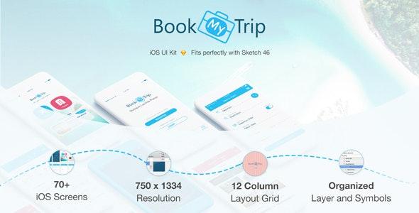 BookMyTrip - Mobile UI Kit Traveling Apps - Sketch UI Templates