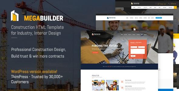 MegaBux | Construction HTML Template - Corporate Site Templates