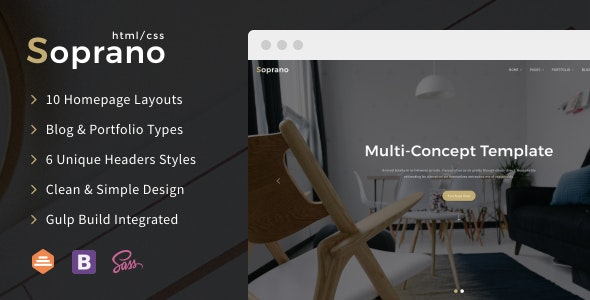 Soprano - Clean Multi-Concept HTML5/CSS3 Template - Business Corporate