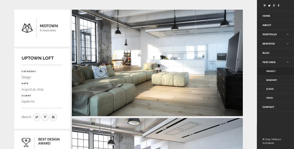 Midtown Architects - Responsive Business Drupal 8.6+ Theme - Portfolio Creative