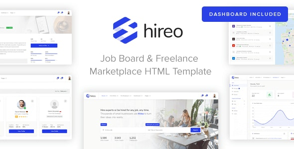 Hireo - Job Board & Freelance Services Marketplace HTML Template - Business Corporate