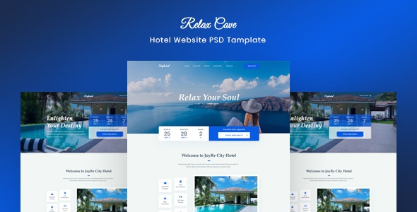 Relax Cave - Hotel Website Template - Travel Retail