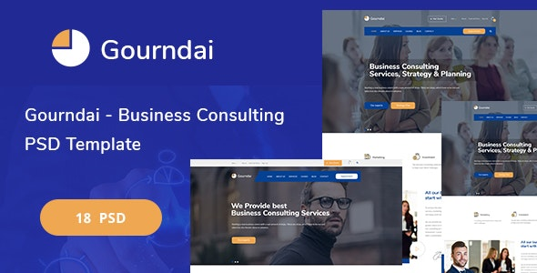 Gourndai - Business Consulting PSD Template - Corporate Photoshop