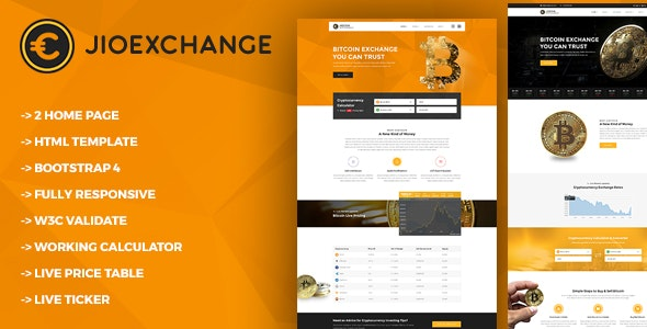 Jioexchange - Bitcoin & ICO Cryptocurrency HTML Template - Technology Site Templates