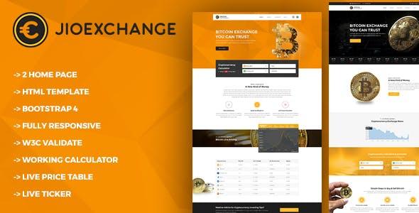 Jioexchange - Bitcoin & ICO Cryptocurrency HTML Template