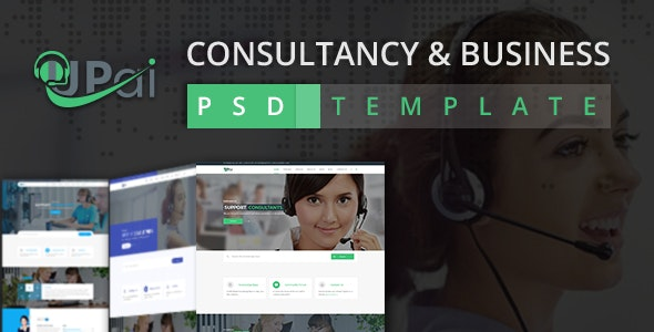 Upai - Consultancy and Business PSD Template - Business Corporate