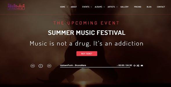 Premix - Music Event WordpPress Theme