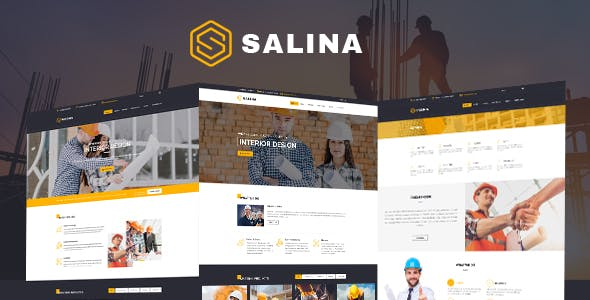 Construction HTML Template - Salina