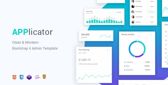 Applicator - Bootstrap 4 Admin Template by Theme_Nate | ThemeForest
