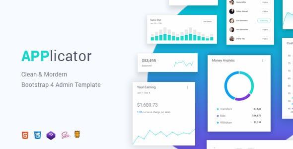 Applicator - Bootstrap 4 Admin Template