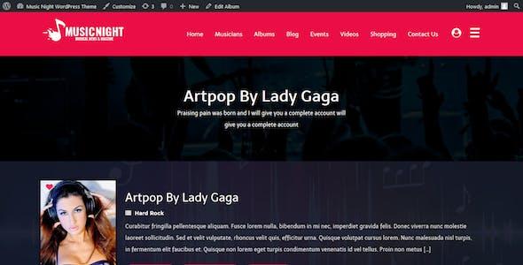 MusicNight Blog WordPress Theme
