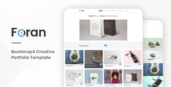 Foran – Creative Portfolio Bootstrap 4 Template - Portfolio Creative