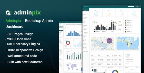 Adminpix - Bootstrap Admin Template Dashboard - Admin Templates Site Templates