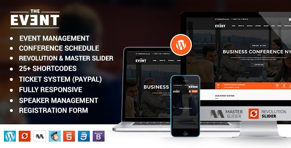 TheEvent – Event Management and Conference WordPress Theme - Events Entertainment