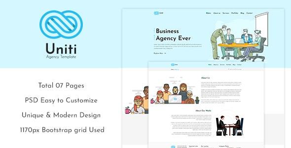 Unity - Corporate/Agency PSD Template - Photoshop UI Templates