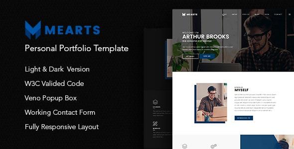 Mearts - Personal Portfolio Template - Portfolio Creative