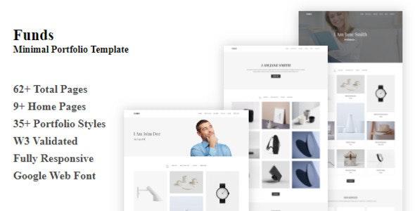 Funds - Minimal Portfolio Template - Portfolio Creative