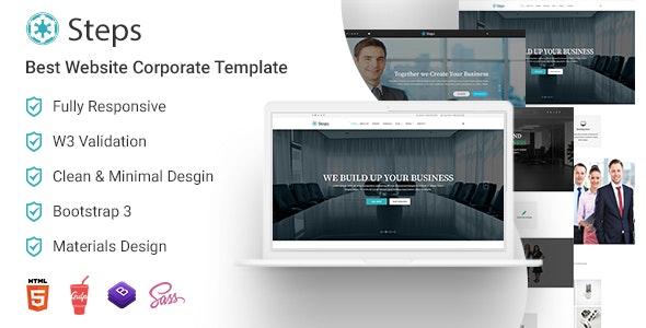 Steps - Best Corporate Website Templates - Corporate Site Templates