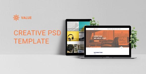Value - Creative Corporate PSD Template - Corporate Photoshop